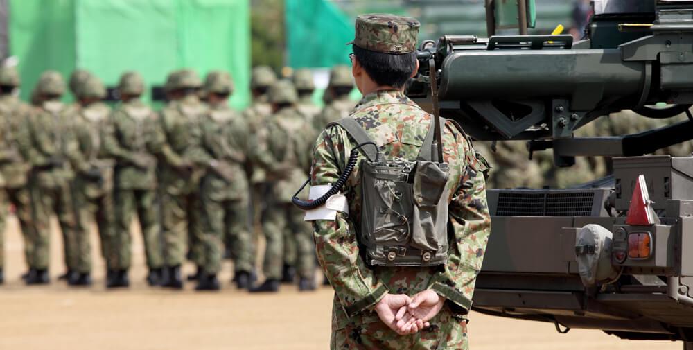自衛隊員の写真